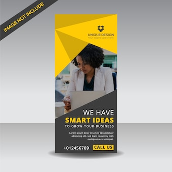 Creative roll up banner template