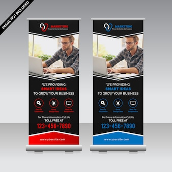 Creative roll up banner