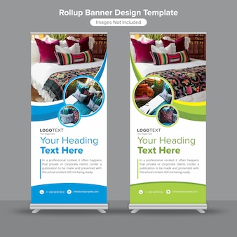Creative roll up standee banner template