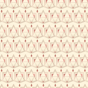 Creative rose gold art deco pattern