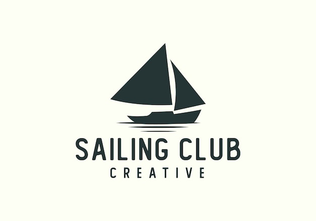 Creative sailing boat club logo