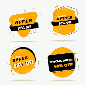 Creative sale banner set