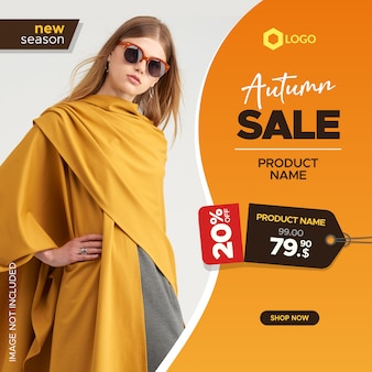 Creative sale banner for social media and web