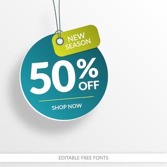 Creative sale banner