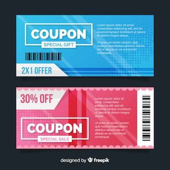 Creative sales concept with coupon