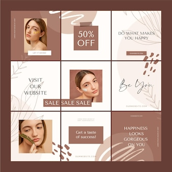 Creative sales instagram grid