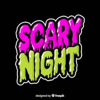 Creative scary night halloween lettering