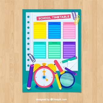 Creative school timetable