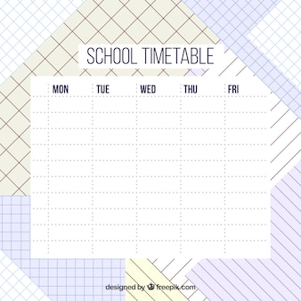 Creative school timetable