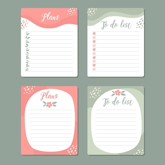 크리에이티브 스크랩북 메모 및 카드