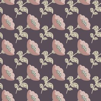 Творческий бесшовный образец с розовыми бледными старинными цветами