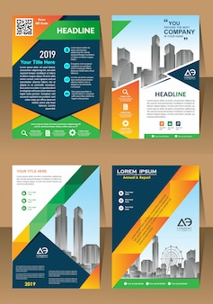 Creative set cover brochure flyer template