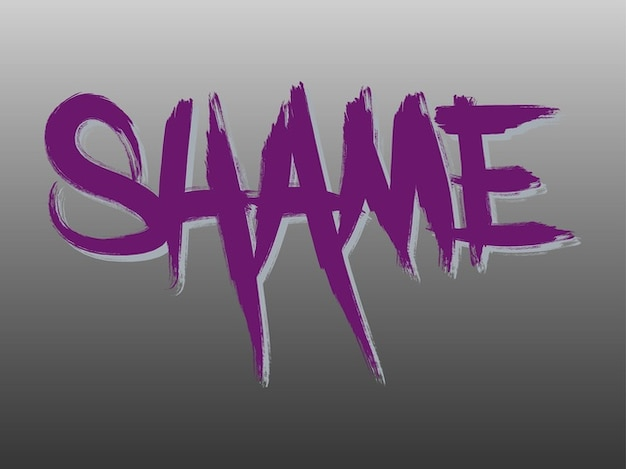 Creative shame text vector