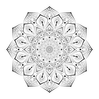 Креативная форма декоративного фона мандалы