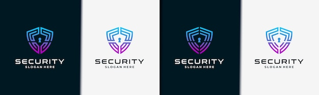 Creative shield logo collection for security