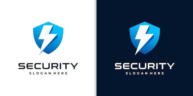 セキュリティのためのクリエイティブシールドロゴ