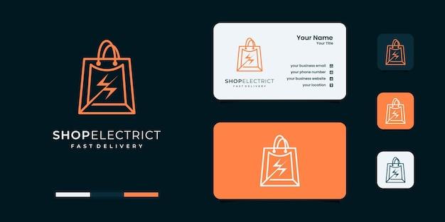 Creative shop electric logo design templates
