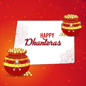 Creative shubh dhanteras design background