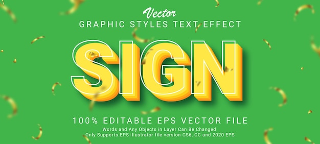 Creative sign with outline text style effect