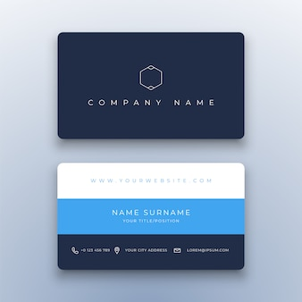 Creative simple business card  on white