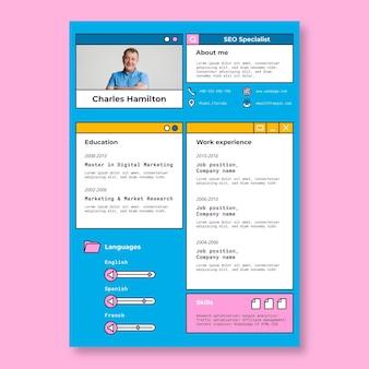 Creative simple charles seo specialist resume