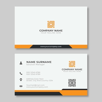 Creative and simple corporate business card