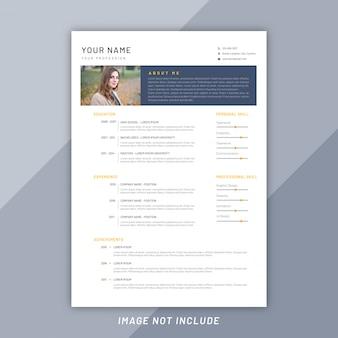 Creative simple curriculum vitae template