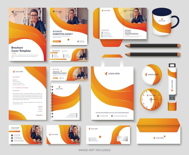 Creative simple modern business stationery set design