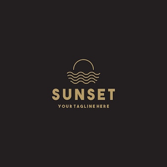 Creative simple sunset logo design