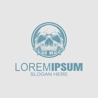 Логотип creative skull