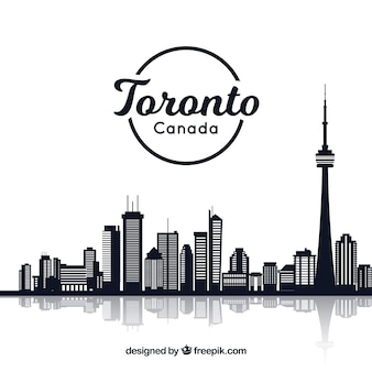 Creative skyline design of toronto