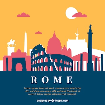 Creative skyline of rome