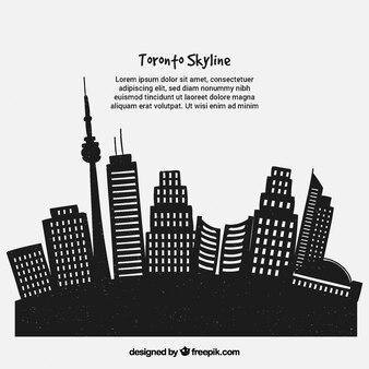 Creative skyline of toronto