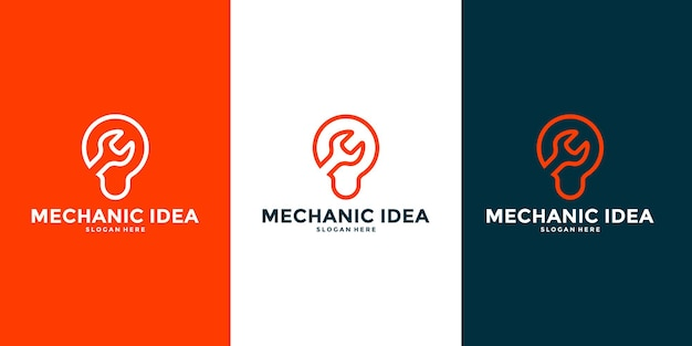 Creative and smart mechanic logo design vector for your business workshop etc