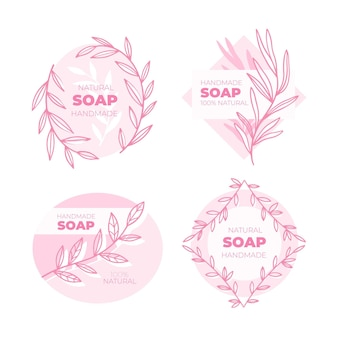 Creative soap labels collection