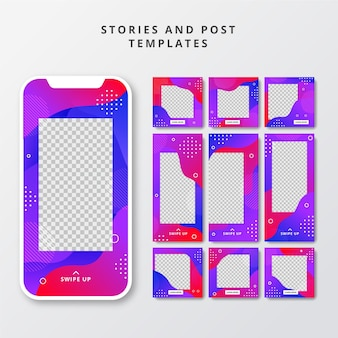 Creative social media posts and stories collection
