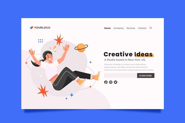 Modello di pagina di destinazione delle soluzioni creative