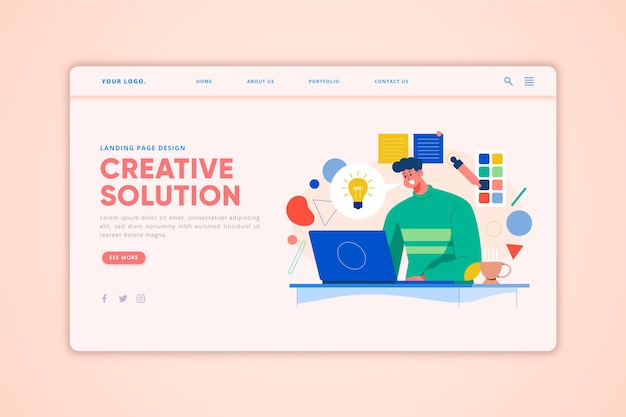 Creative solutions landing page