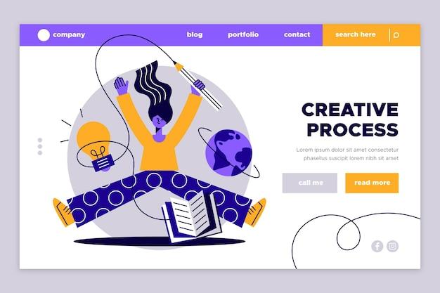 Целевая страница креативных решений