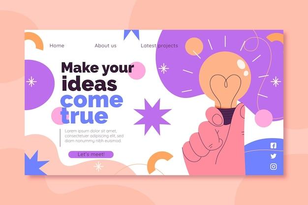 Веб-шаблон креативных решений
