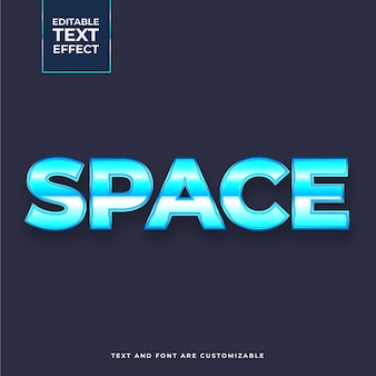 Creative space text effect