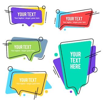 Creative speech bubble variation