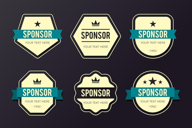 Creative sponsoring badges pack