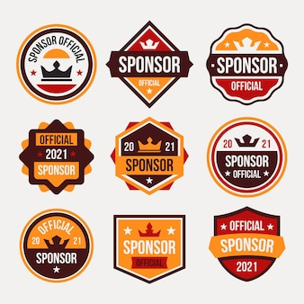 Creative sponsoring labels collection