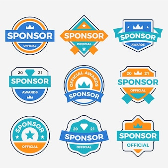 Creative sponsoring labels pack