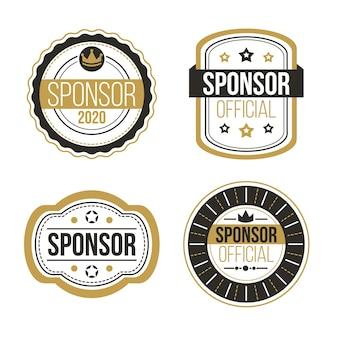 Creative sponsoring labels set
