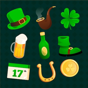 Creative st. patrick's day elements collection