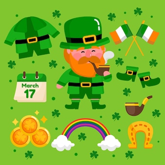 Creative st. patrick's day elements