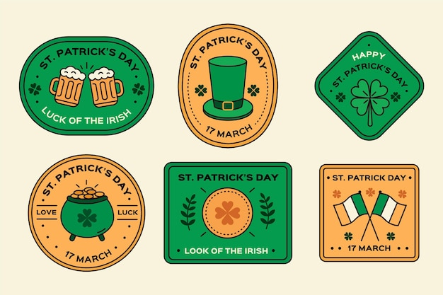 Creative st. patrick's day label pack