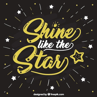 Creative star background with lettering